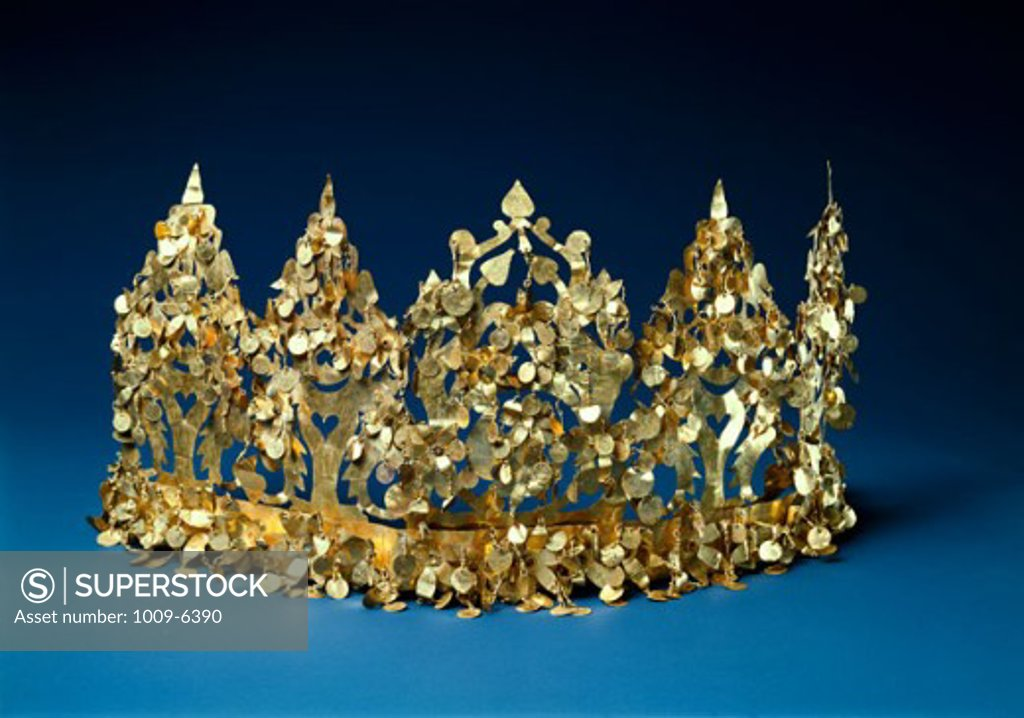 Stock Photo: 1009-6390 Bactrian Gold: Crown Artist Unknown Kabul Museum, Afghanistan