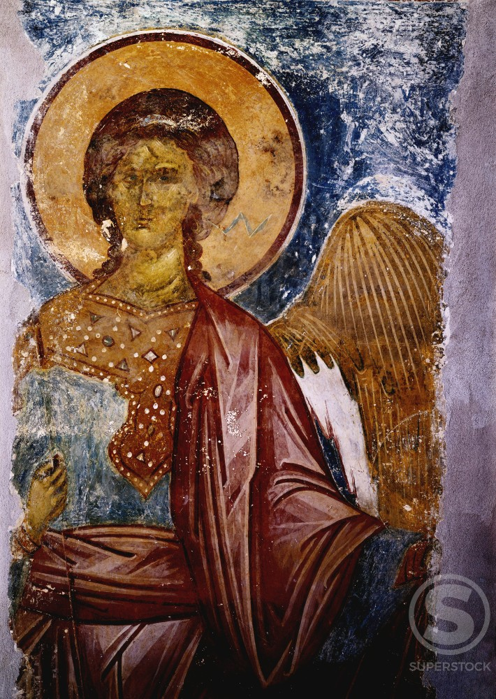 Stock Photo: 1009-6009 The Angel from St. Phenohout Monastery 