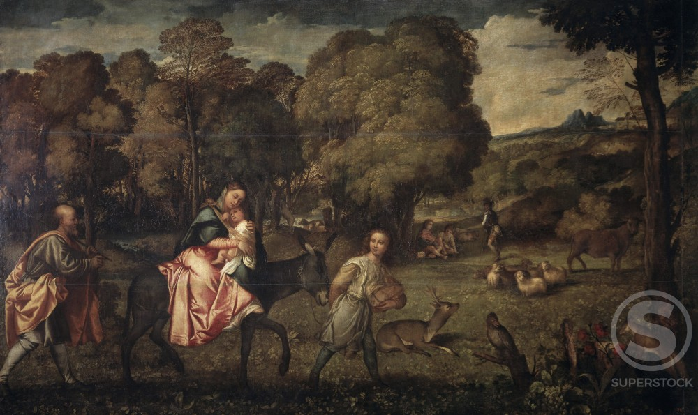 Stock Photo: 1009-6012 Flight into Egypt 