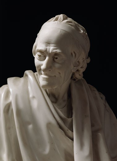 Voltaire,  by Jean-Antoine Houdon,  Russia,  St. Petersburg,  Hermitage Museum,  1741-1828 : Stock Photo