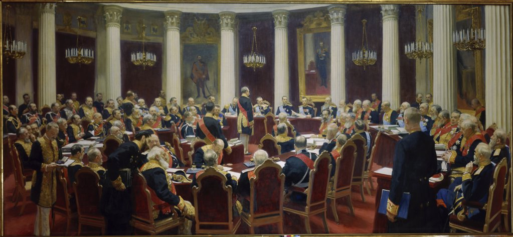 Stock Photo: 1009-6215 The Sitting of The Supreme Council