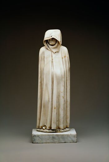 Stock Photo: 1009-6257 The Weeper Juan de Cambray (b.1508 Spanish) Marble Sculpture State Hermitage Museum, St. Petersburg, Russia
