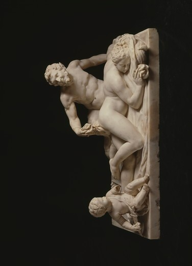Jupiter and Antiope, sculpture, Russia, St. Petersburg, Hermitage Museum : Stock Photo