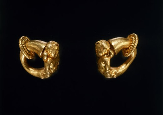 Bactrian Gold: Cupid Earrings