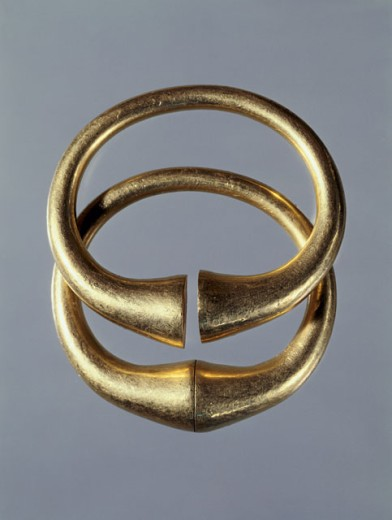 Stock Photo: 1009-6373 Bactrian Gold: Bracelets Artist Unknown Kabul Museum, Afghanistan