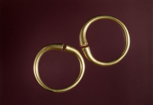 Stock Photo: 1009-6374 Bactrian Gold: Anklets Artist Unknown Kabul Museum, Afghanistan