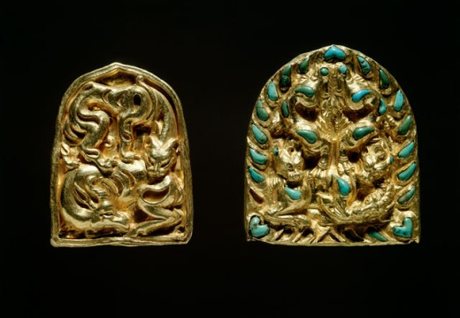 Bactrian Gold: Plaques Depicting a Panther Mauling an Antelope