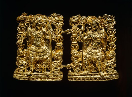 Bactrian Gold: Clasps with Warrior Design