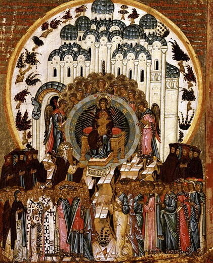 In Thee Rejoicing End of 15th Century Artist Unknown Icon Cathedral of St. Sophia Novgorod, Russia Tempera on canvas : Stock Photo