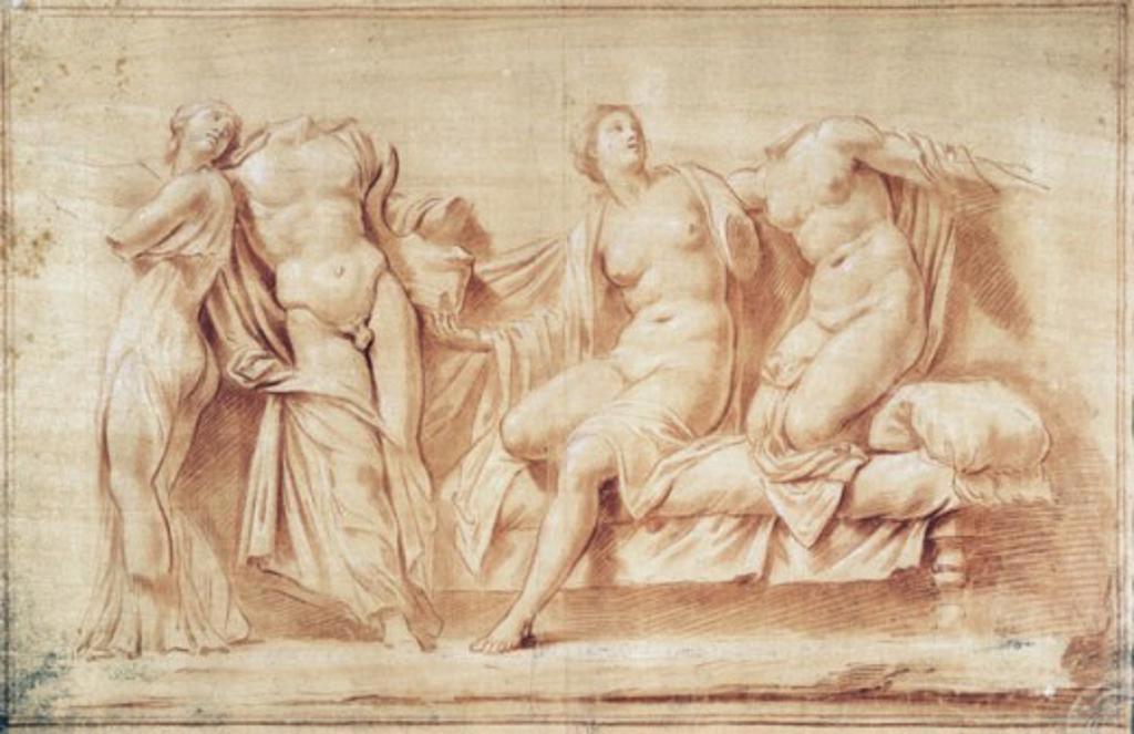 Stock Photo: 1010-148 Greek Marble Sanguine Drawing Artist Unknown (European)