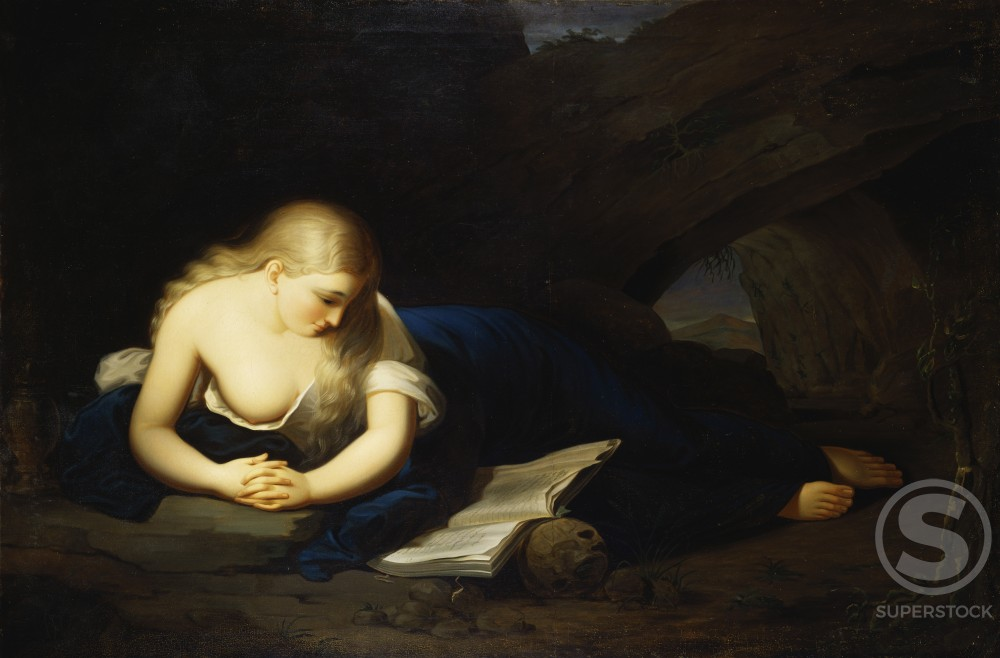 Stock Photo: 1010-15012 Penitent Magdelen 