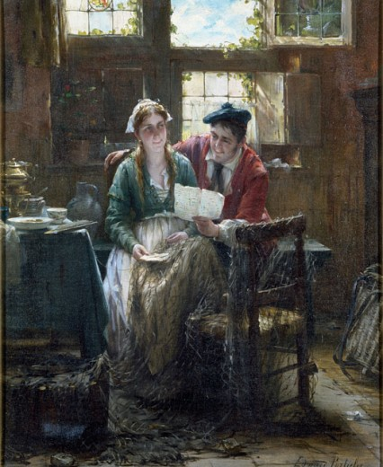 Stock Photo: 1010-15167 The Fisherman's Courtship
