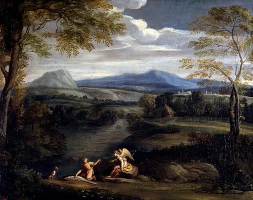Stock Photo: 1010-15264 Tobias and Angel by unknown Italian artist, 17th-18th century