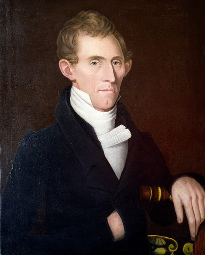 Samuel Devel of Briarcliff Farms, Duchess, N.Y. by Ammi Phillips, painting, 1830, 1788-1865 : Stock Photo