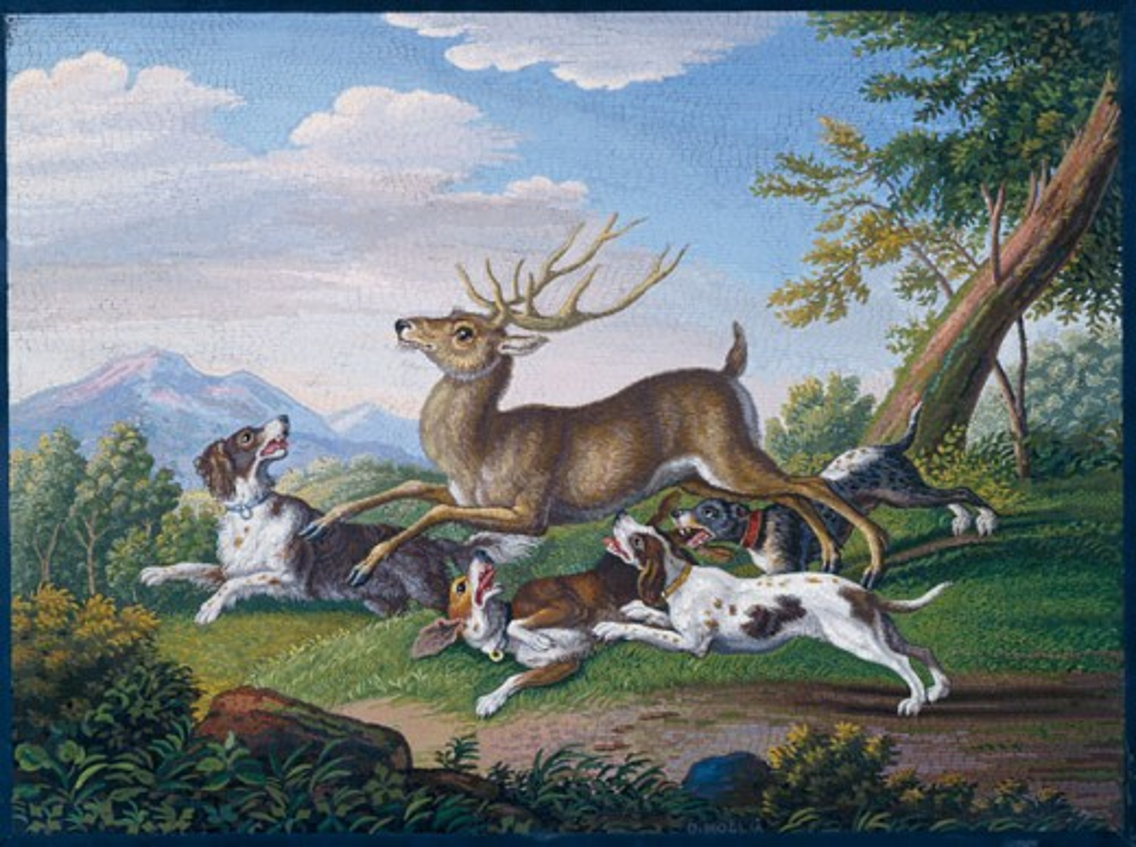 Stock Photo: 1010-15342 The Deer Hunt Domenico Moglia (1780-1862/Italian)