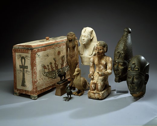 Stock Photo: 1010-15414 Collection of Egyptian Artifacts, Egyptian Art