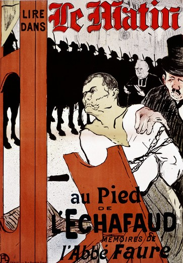 Le Matin: At the Foot of the Scaffold by Henri de Toulouse-Lautrec, illustration, 1893, 1864-1901 : Stock Photo