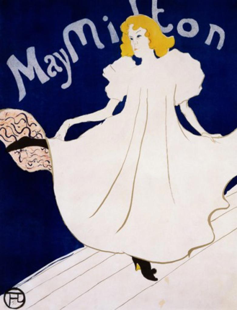 May Milton 1895 Henri de Toulouse-Lautrec (1864-1901/French) : Stock Photo