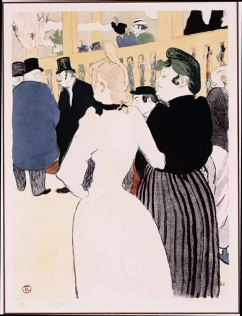 La Goulue et sa Soeur 1892 Henri de Toulouse-Lautrec (1864-1901 French) Lithograph  : Stock Photo