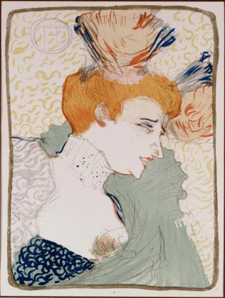 Stock Photo: 1010-15511 Mademoiselle Marcelle Lender, en Buste 1895 Henri de Toulouse-Lautrec (1864-1901 French) Lithograph