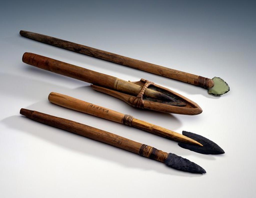 Stock Photo: 1010-15527 Killing Lances, Eskimo Art, USA, Washington DC, Smithsonian Institution (National Museum of Natural History)