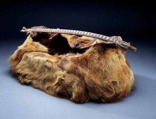 Man's Working Bag, Eskimo Art, USA, Washington DC, Smithsonian Institution (National Museum of Natural History) : Stock Photo