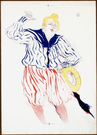 """Bessie Wentworth Singing """"Little Alabama Coon"""" 1899 Henri de Toulouse-Lautrec (1864-1901/French) Lithograph : Stock Photo"""
