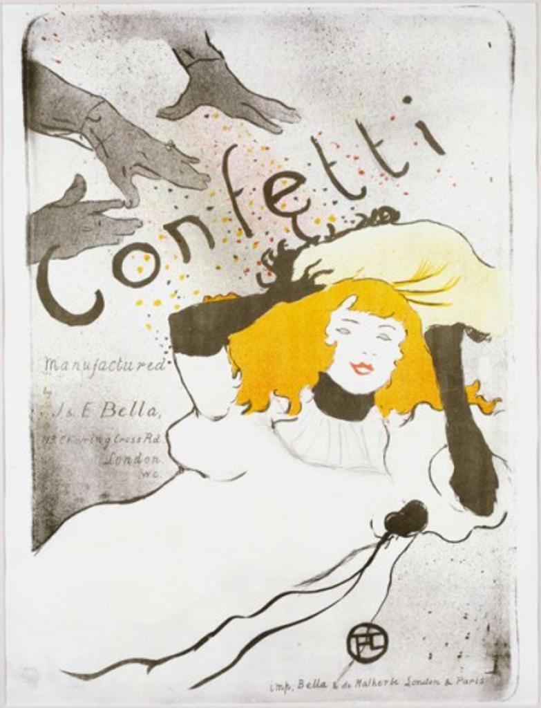 Stock Photo: 1010-15554 Confetti 1894 Henri de Toulouse-Lautrec (1864-1901 French) Lithograph
