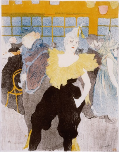 Stock Photo: 1010-15555 Le Clowness Au Moulin Rouge