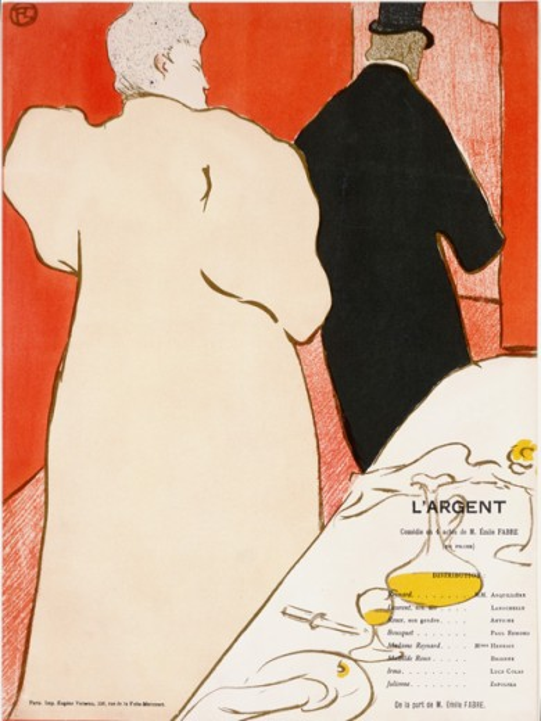 L'Argent  1895 Henri de Toulouse-Lautrec (1864-1901 French) Lithograph : Stock Photo