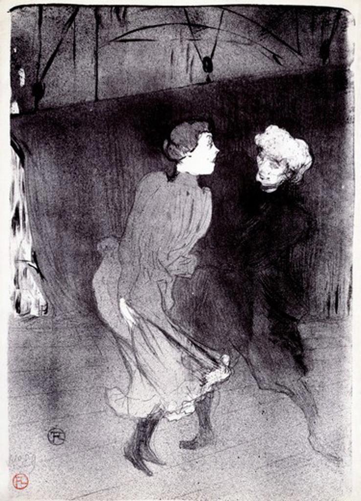 Repeition Generale aux Folies Bergere: Emilienne D'Alencet Mariquita by Henri de Toulouse-Lautrec, 1864-1901 : Stock Photo