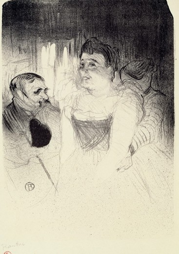 Judic by Henri de Toulouse-Lautrec, Lithograph, 1893, 1864-1901 : Stock Photo
