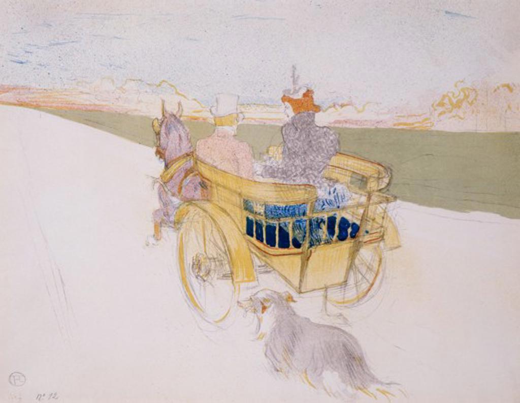 Partie De Campagne by Henri de Toulouse-Lautrec, 1864-1901 : Stock Photo