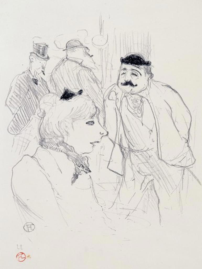 La Tige: Moulin Rouge by Henri de Toulouse-Lautrec, Lithograph, 1894, 1864-1901 : Stock Photo