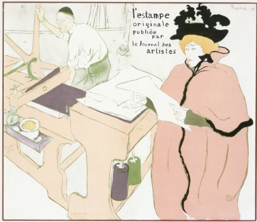 La Lithographie:Couverture de L'Estampe Originale