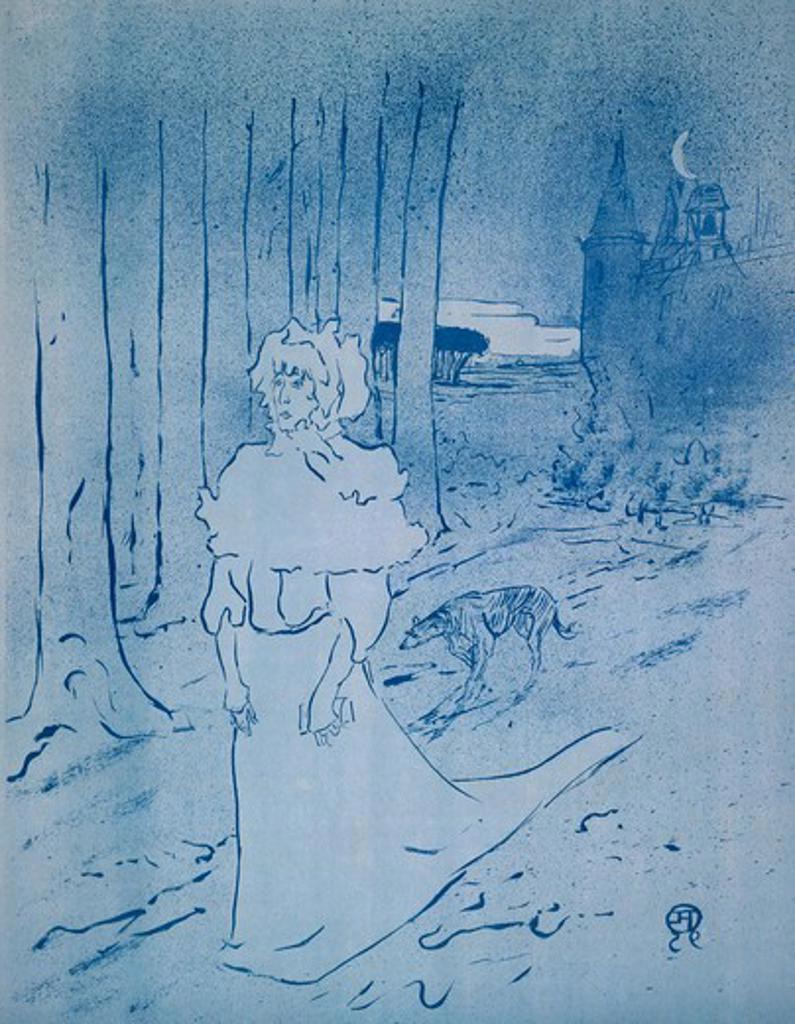 Stock Photo: 1010-15571 Le Tocsin: La Chatalaine by Henri de Toulouse-Lautrec, 1864-1901