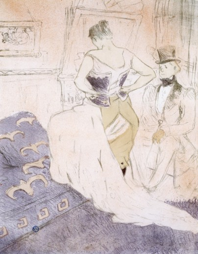 Stock Photo: 1010-15575 Elles: Femme en Corset Conquete de Passage