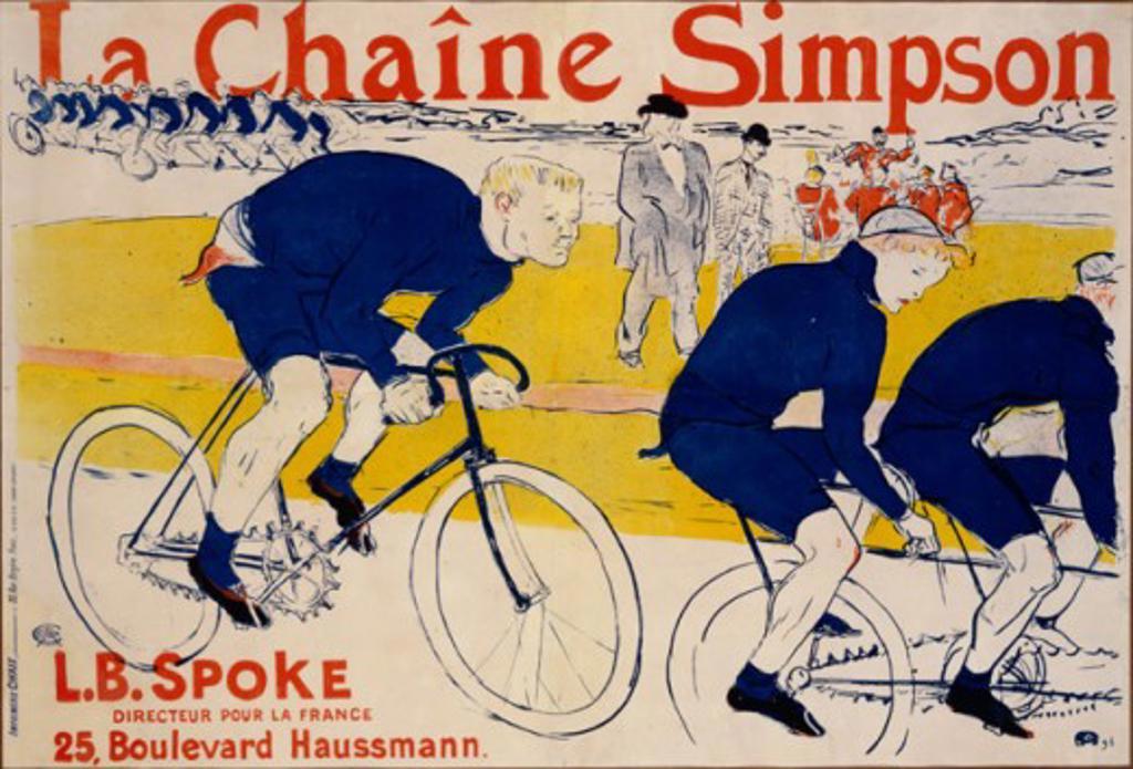 La Chaine Simpson Henri de Toulouse-Lautrec(1864-1901 French)  : Stock Photo
