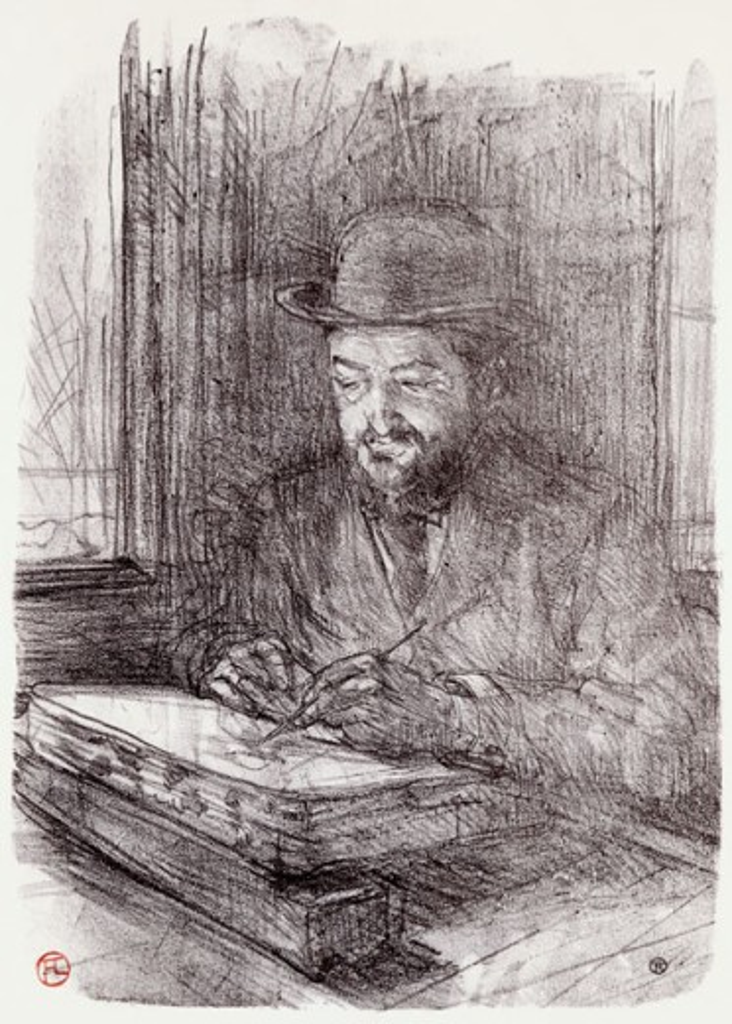 Le Bon Graveur: Adolphe Albert Henri de Toulouse-Lautrec (1864-1901 French)  : Stock Photo