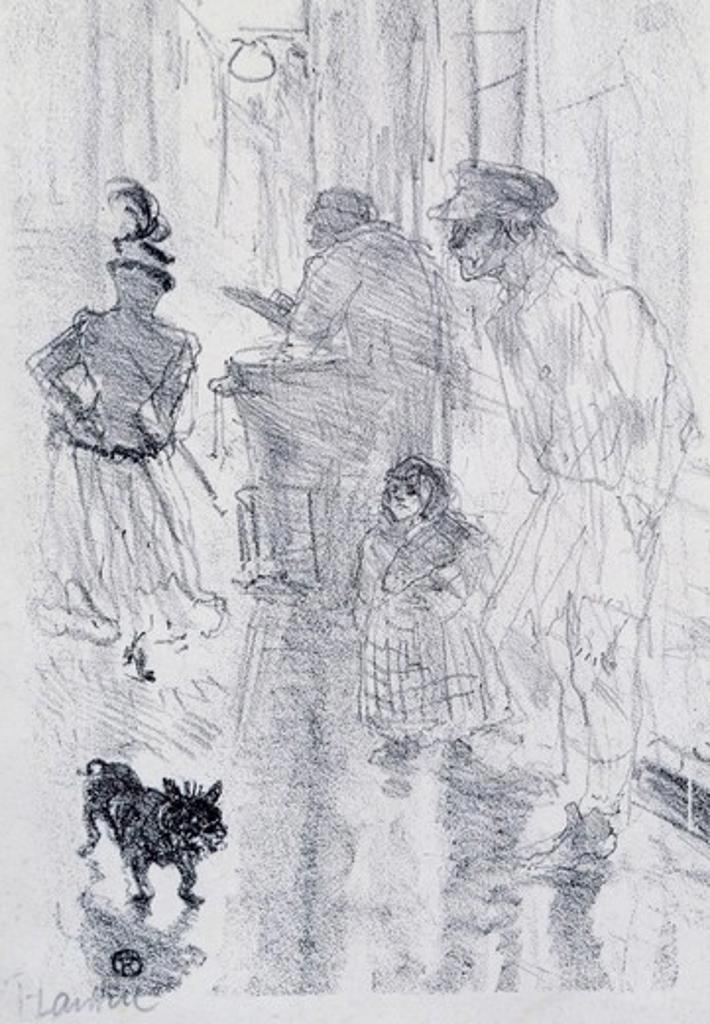 Le Marchand De Marrons by Henri de Toulouse-Lautrec, 1864-1901 : Stock Photo