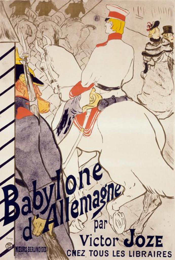Babylone D'Allemagne by Henri de Toulouse-Lautrec, Lithograph, 1894, 1864-1901 : Stock Photo