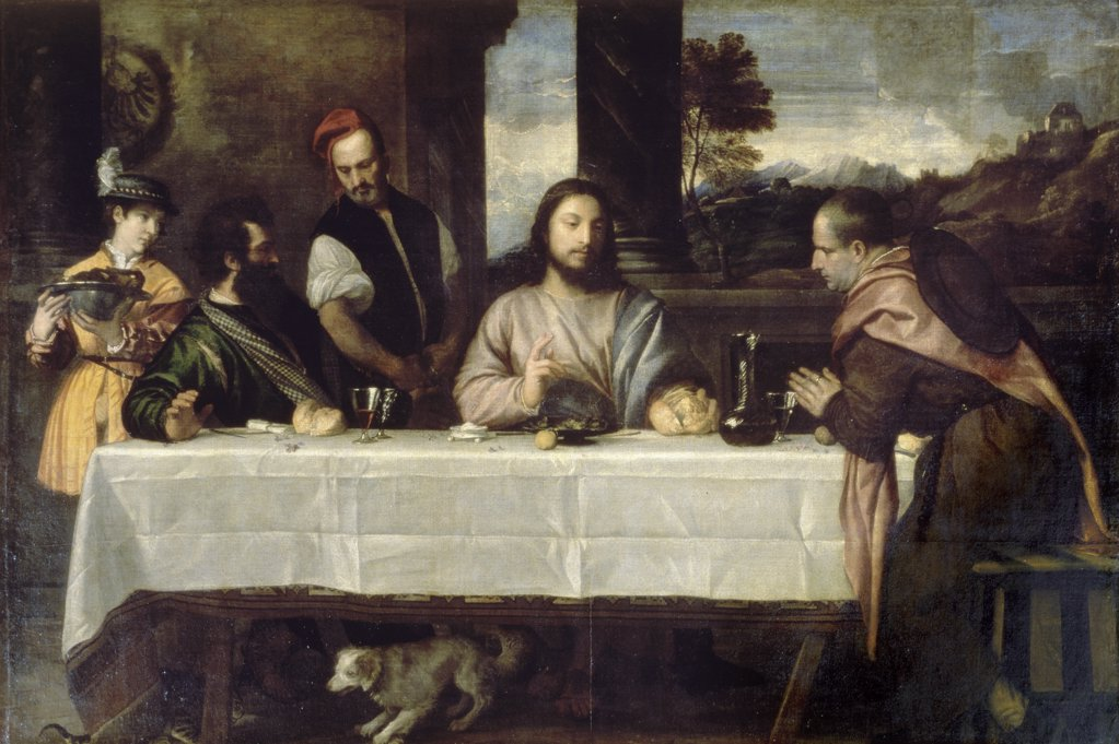 Stock Photo: 1030-1064 The Supper at Emmaus 