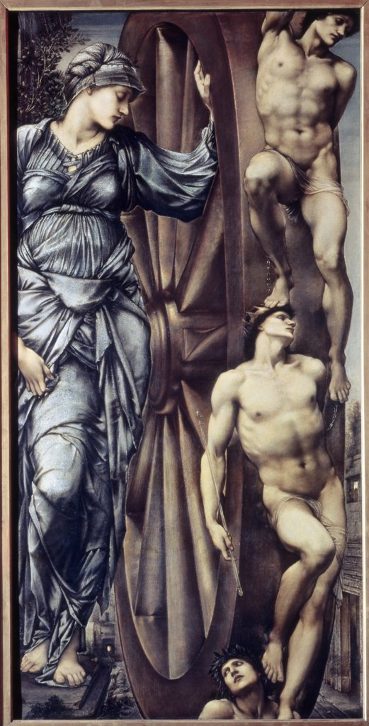 Stock Photo: 1030-1097 The Wheel of Fortune 1883 Edward Burne-Jones (1883-1898 British) Oil on canvas Musee d'Orsay, Paris, France