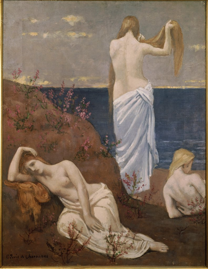 Young Girls on the Edge of the Sea 