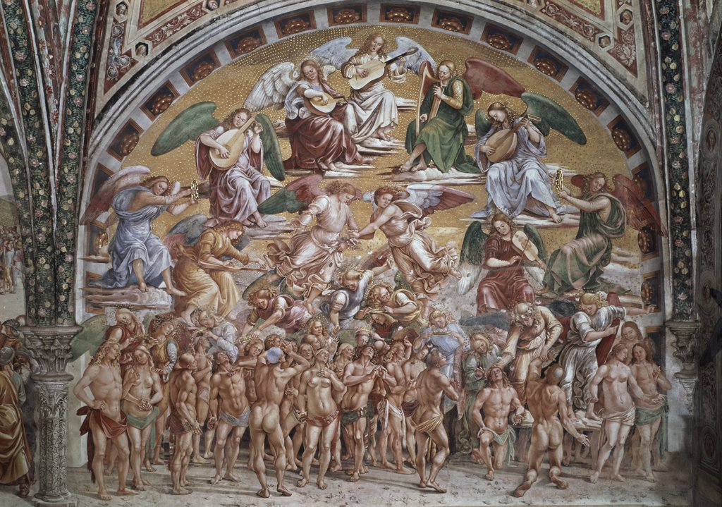 Stock Photo: 1030-1156 Chapel Of The Madonna Of San Brizio