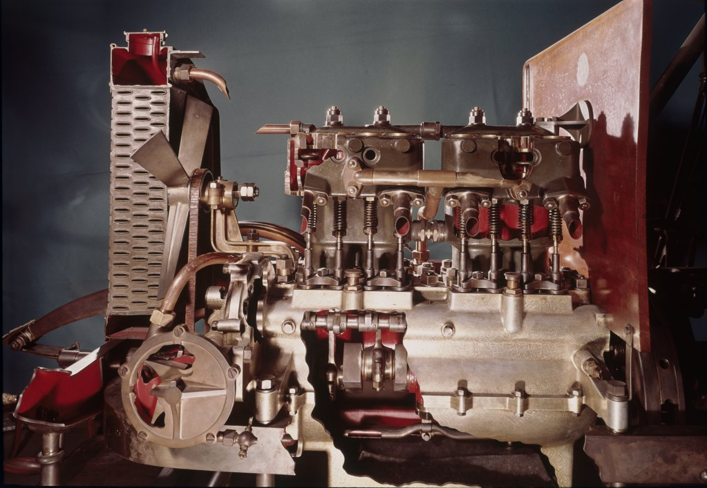 "Stock Photo: 1030-1228 Motor with Cylinders (""The Dion-Bouton"")