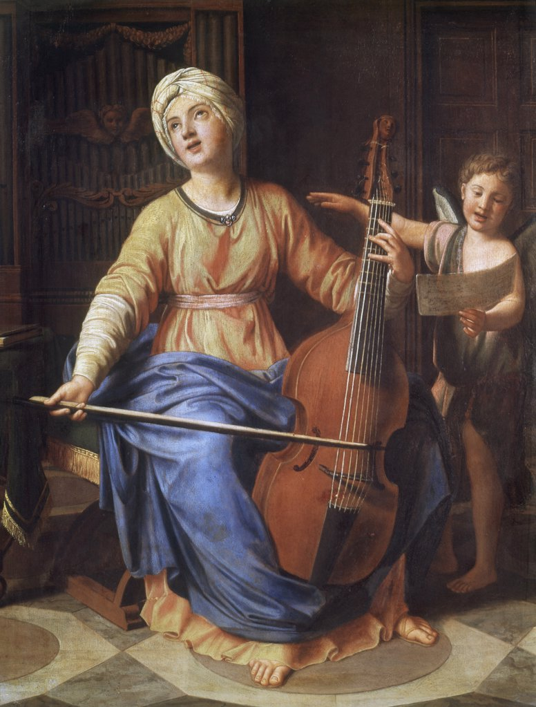 Stock Photo: 1030-1454 Saint Cecilia 