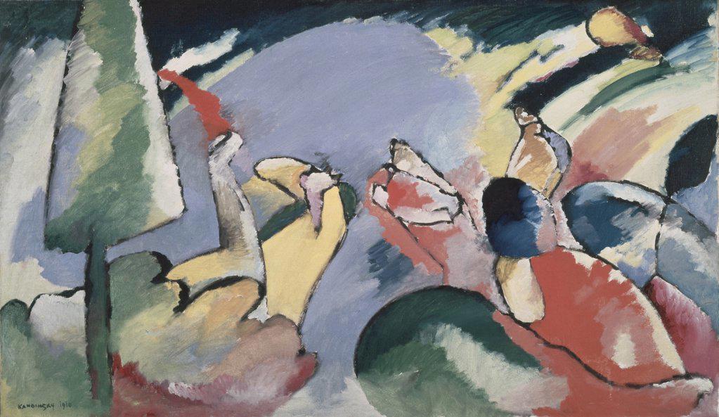 Stock Photo: 1030-1490 Improvisation Xiv  S.D.1910 Kandinsky, Vasily(1866-1944 Russian) Oil On Canvas Musee National d' Art Moderne, Centre Georges Pompidou, Paris