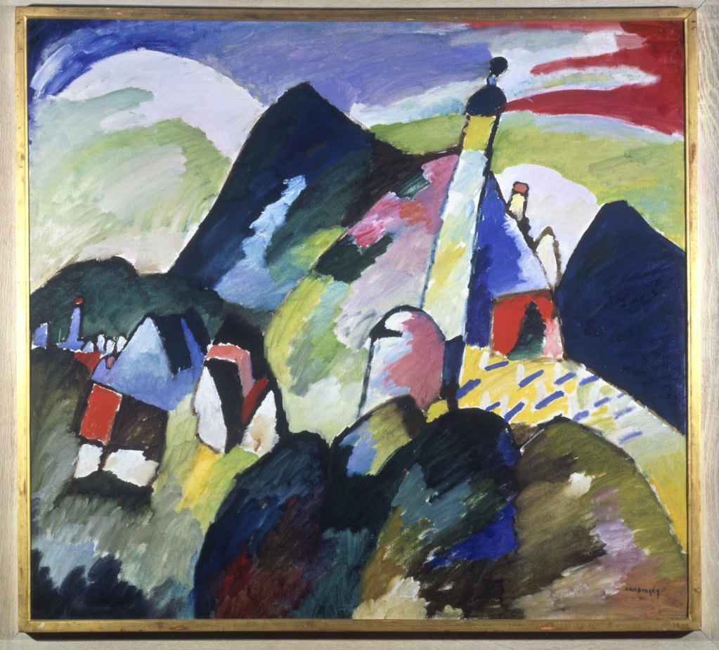 Stock Photo: 1030-1496 Murnau with a Church II 