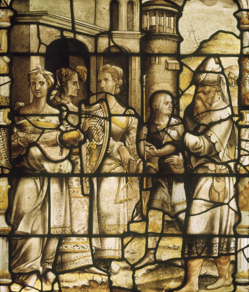 Stock Photo: 1030-1507 Triumphant Return of David 